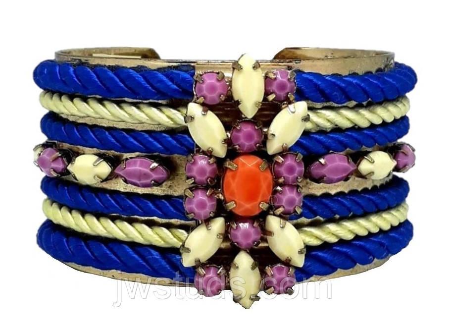 SHOUROUK широкий браслет с разноцветными камнями