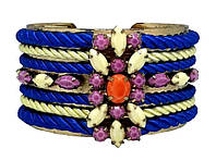 SHOUROUK широкий браслет с разноцветными камнями, фото 1