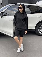 Женский замшевый комплект худи шорты