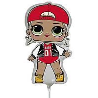 Фольгированный мини-шар Кукла Лол mc cwag (Flexmetal)