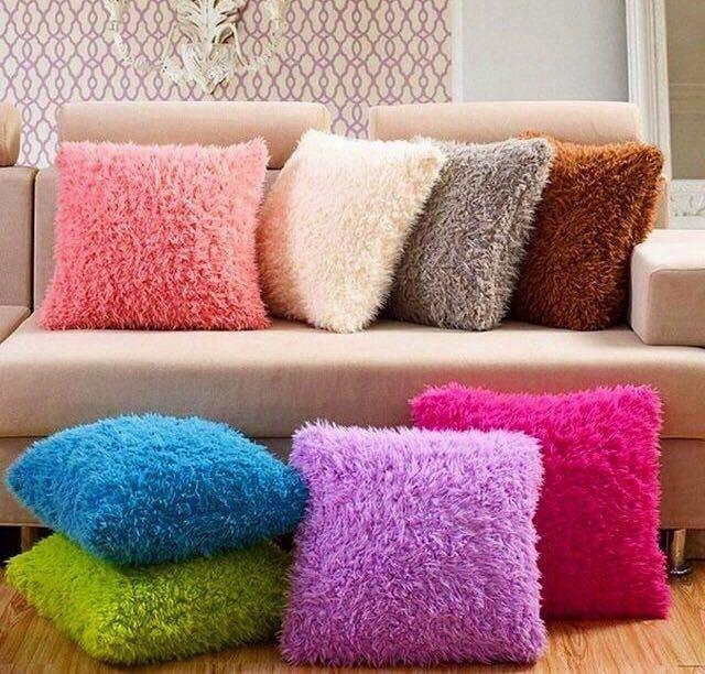 Декоративные ворсистые подушки 50*70