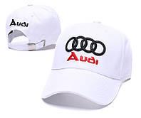 Кепка бейсболка Sportlux Audi Premium Авто 55-61 см белая хлопковая (3331А)