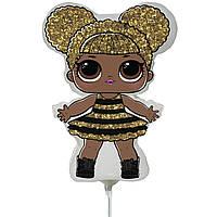Фольгированный мини-шар Кукла Queen Bee (Flexmetal)