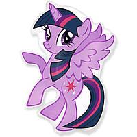 Фольгированный мини-шар Пони фиолетовый (Flexmetal)