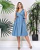 Джинсовое летнее платье на запах (2 цвета) PY/-1028 - Голубой
