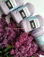 Трикотажная пряжа YarnArt Ribbon Ярнарт Риббон лилового цвета