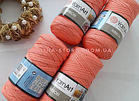 Трикотажная пряжа YarnArt Ribbon Ярнарт Риббон морковного цвета