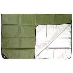 Аварийный тент темно-зеленый/серебристый MFH
