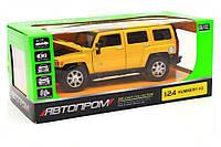 Машинка игровая автопром «Hummer H3» Жёлтый 68240A, фото 1