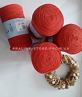 Трикотажная пряжа YarnArt Ribbon Ярнарт Риббон красного цвета