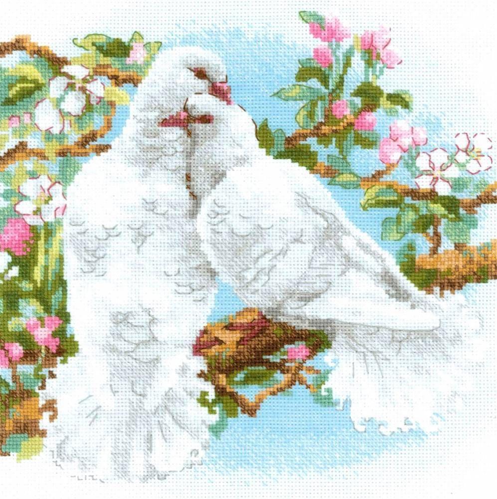 Набор для вышивки крестом Риолис 1856 «Белые голуби»