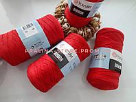 Трикотажная пряжа YarnArt Ribbon Ярнарт Риббон ярко  красного цвета
