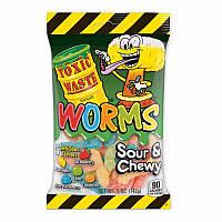 Желейки Toxic Waste worms sour&chewy 142g