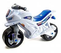 Детский мотоцикл каталка Orion, полиция, белый