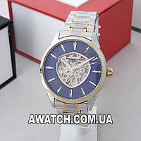 Мужские механические наручные часы Megalith 8210 / Мегалайт на металлическом браслете комбинированного цвета