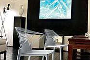 Кресло Papatya Ego-K черное сиденье, верх прозрачно-дымчатый, фото 2