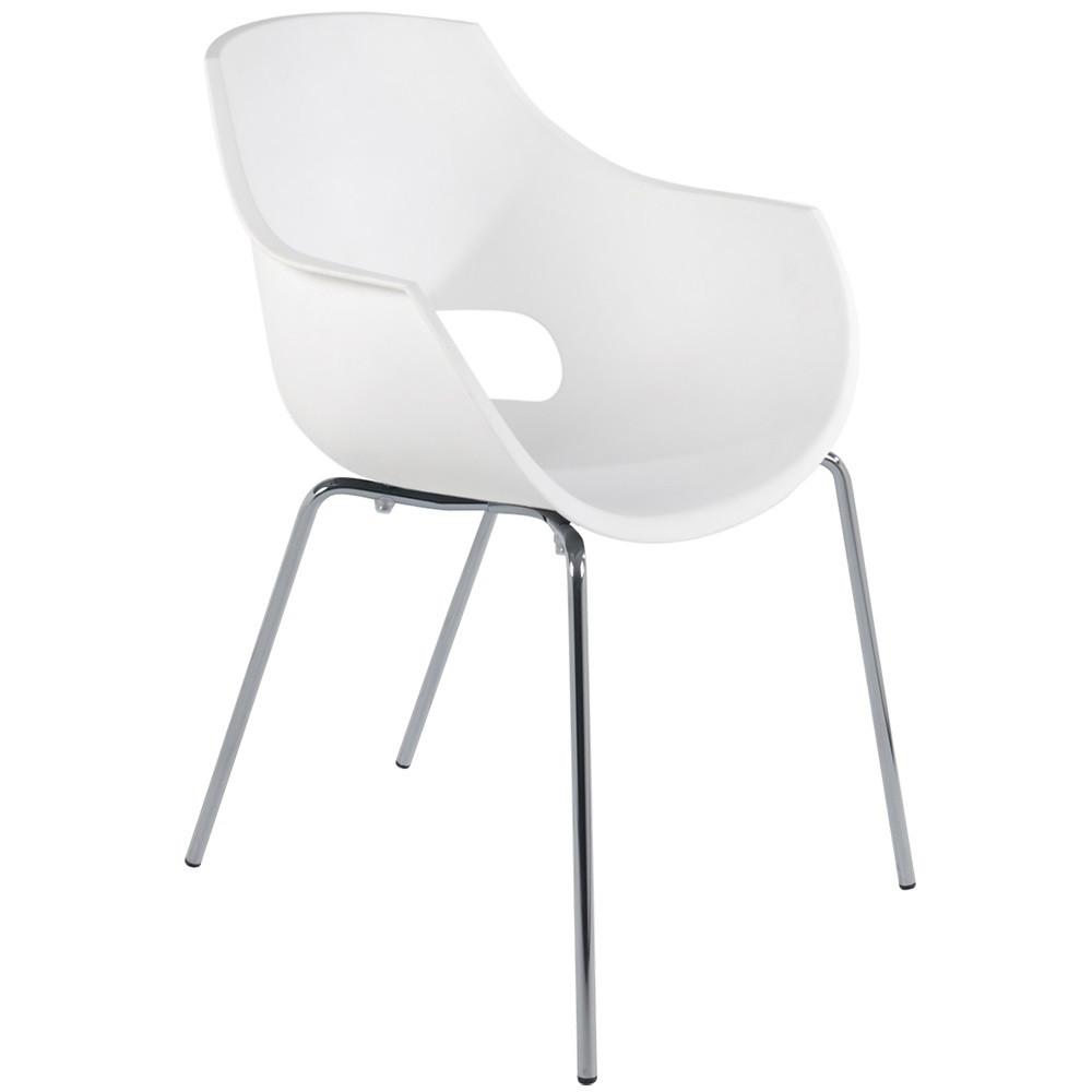 Кресло Papatya Opal-ML PRO белый, ножки хром