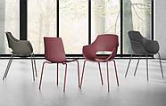 Кресло Papatya Opal-ML PRO белый, ножки хром, фото 3