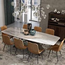 Мраморный стол прямоугольный. Модель 2-427