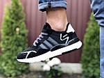 Мужские кроссовки Adidas Nite Jogger (черно-белые) 9371, фото 2
