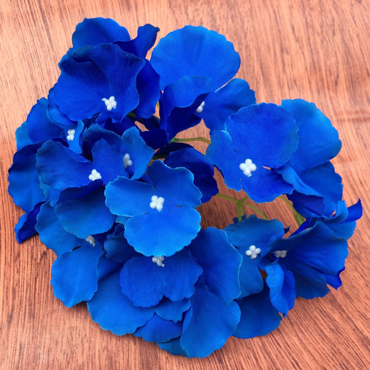 Головка гортензии, 15 см. синяя .