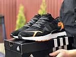 Мужские кроссовки Adidas Nite Jogger (черно-белые) 9374, фото 2