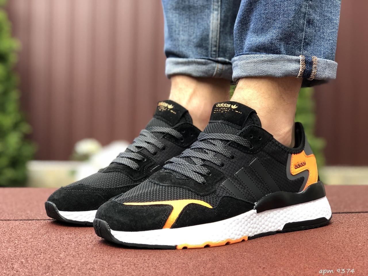 Чоловічі кросівки Adidas Nite Jogger (чорно-білі) 9374