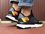 Чоловічі кросівки Adidas Nite Jogger (чорно-білі) 9374, фото 4
