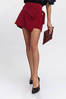 Юбка-шорты женские цвет Бордовый