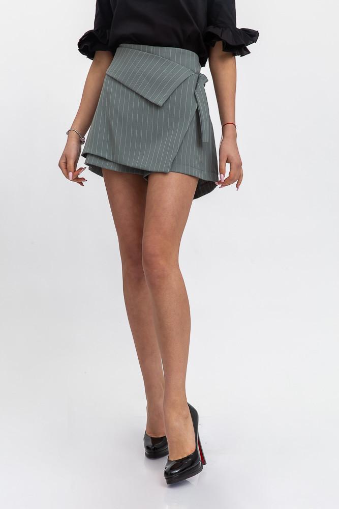 Юбка-шорты женские цвет Серо-зеленый