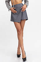 Юбка-шорты женские  цвет Серый