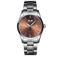 Часы мужские кварцевый SWIDU SWI-021 Silver + Brown (3089-8779)