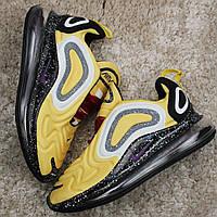 🔥 Кроссовки Nike Air Max 720 Black Yellow Желтый Найк Аир Макс 720 🔥 Найк мужские кроссовки 🔥