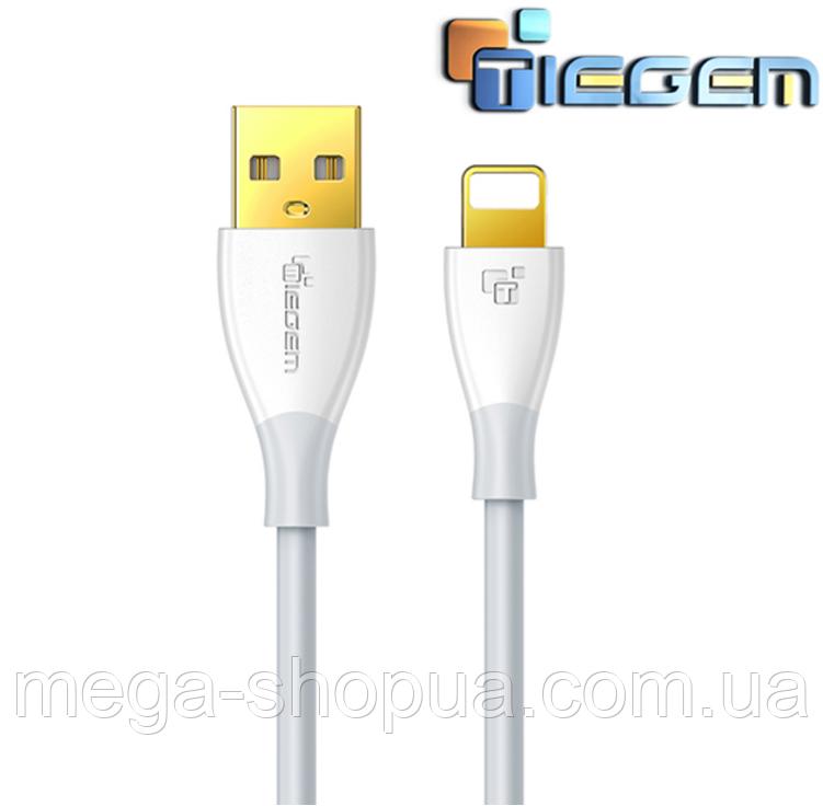 Кабель быстрой зарядки 2.5A USB - Lightning Tiegem White, 1 метр