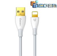Кабель быстрой зарядки 2.5A USB - Lightning Tiegem White, 1 метр, фото 1