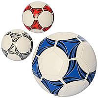 Мяч футбольный EN 3215  размер 5, ПВХ 1,6мм, 270-280г, 3 цвета,а кульке,