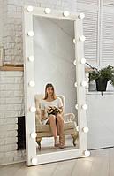 ☀️Зеркало❤️ с подсветкой☀️ Натуральное 🌲Дерево! Зеркало в полный рост с подсветкой напольное . Опалено., фото 1