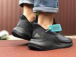 Мужские кроссовки Adidas Alphaboost (черные) 9377, фото 4