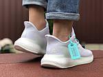 Мужские кроссовки Adidas Alphaboost (белые) 9379, фото 6