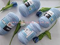 Трикотажная пряжа YarnArt Ribbon Ярнарт Риббон голубого цвета