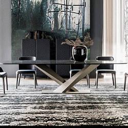 Мраморный стол прямоугольный. Модель 2-428
