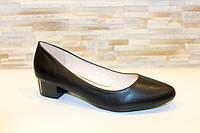 Туфли женские черные на каблуках Т1075, фото 1
