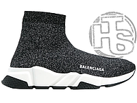 Женские кроссовки Balenciaga Speed Trainers Mid Lurex Knit 530284 W0680 1000