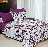 Комплект постельного белья Евро - Малиновий вензель