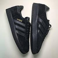 🔥  Кроссовки Adidas Gazelle Black Адидас Газель Черный 🔥 Адидас мужские кроссовки 🔥