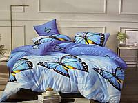 Комплект постельного белья ЕВРО Бязь хлопок 100% Беларусь 200*220 Бабочка