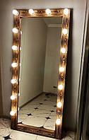 ❤️Зеркало с подсветкой☀️ Напольное большое Зеркало в полный рост с подсветкой для макияжа Натуральное Дерево!, фото 1