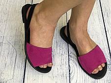 Кожаные босоножки на подошве 1см, кожа или замша размеры 36-41, фото 3