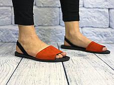 Кожаные босоножки на подошве 1см, кожа или замша размеры 36-41, фото 2