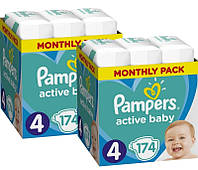 Подгузники Pampers Active Baby 4 (9-14кг) 348 шт (2х174 шт.)